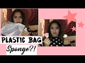 APPLYING MAKEUP WITH A PLASTIC BAG!