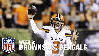 Johnny Manziel Scrambles & Finds Duke Johnson for the TD! | Browns vs. Bengals | NFL
