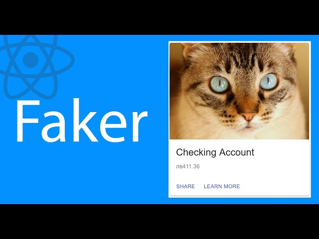 I Finally Try faker.js | React Tutorial