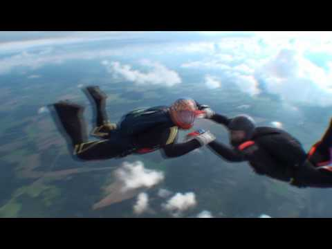 Safire II 139 sq ft my first jump with canopy & Safire II 139 sq ft my first jump with canopy - YouTube