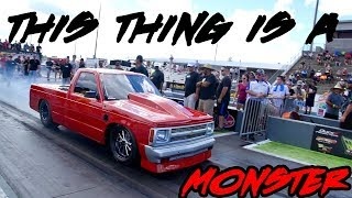 1 OF THE FASTEST SMALL TIRE SMALL BLOCK GRUDGE S10s I'VE SEEN! THIS THING IS FAST