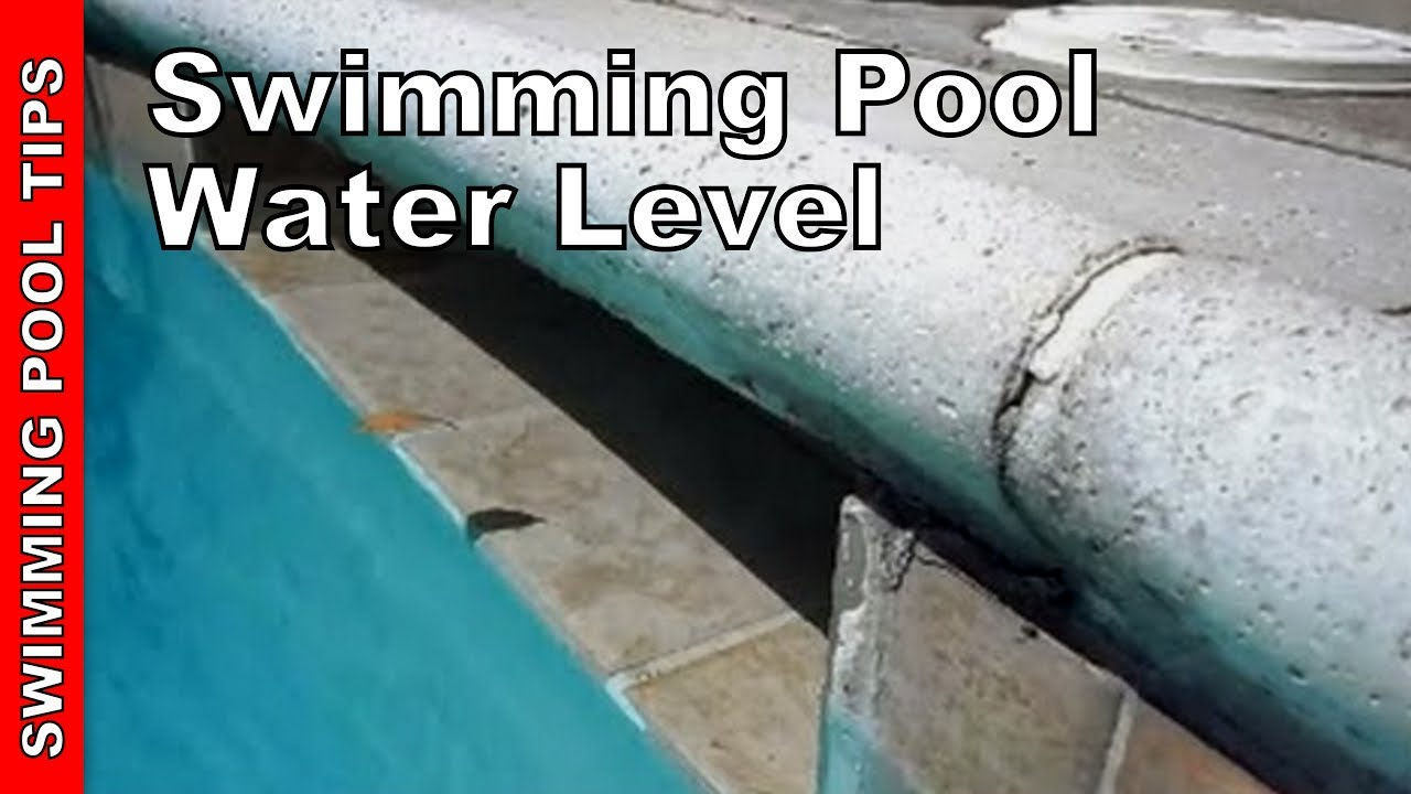 Pool Water Level Proper Water Level Youtube