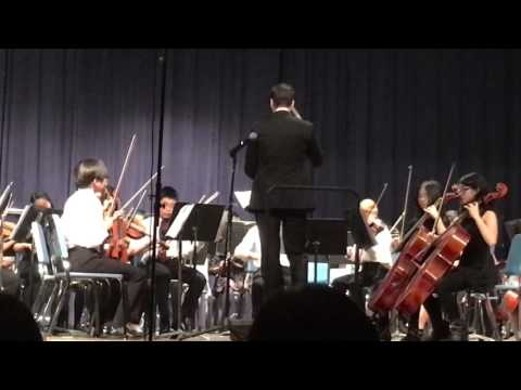 Tenafly Middle School orchestra performance