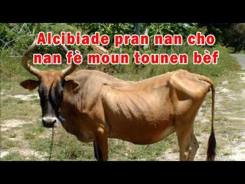 Alcibiade pran nan cho nan fè moun tounen bèf