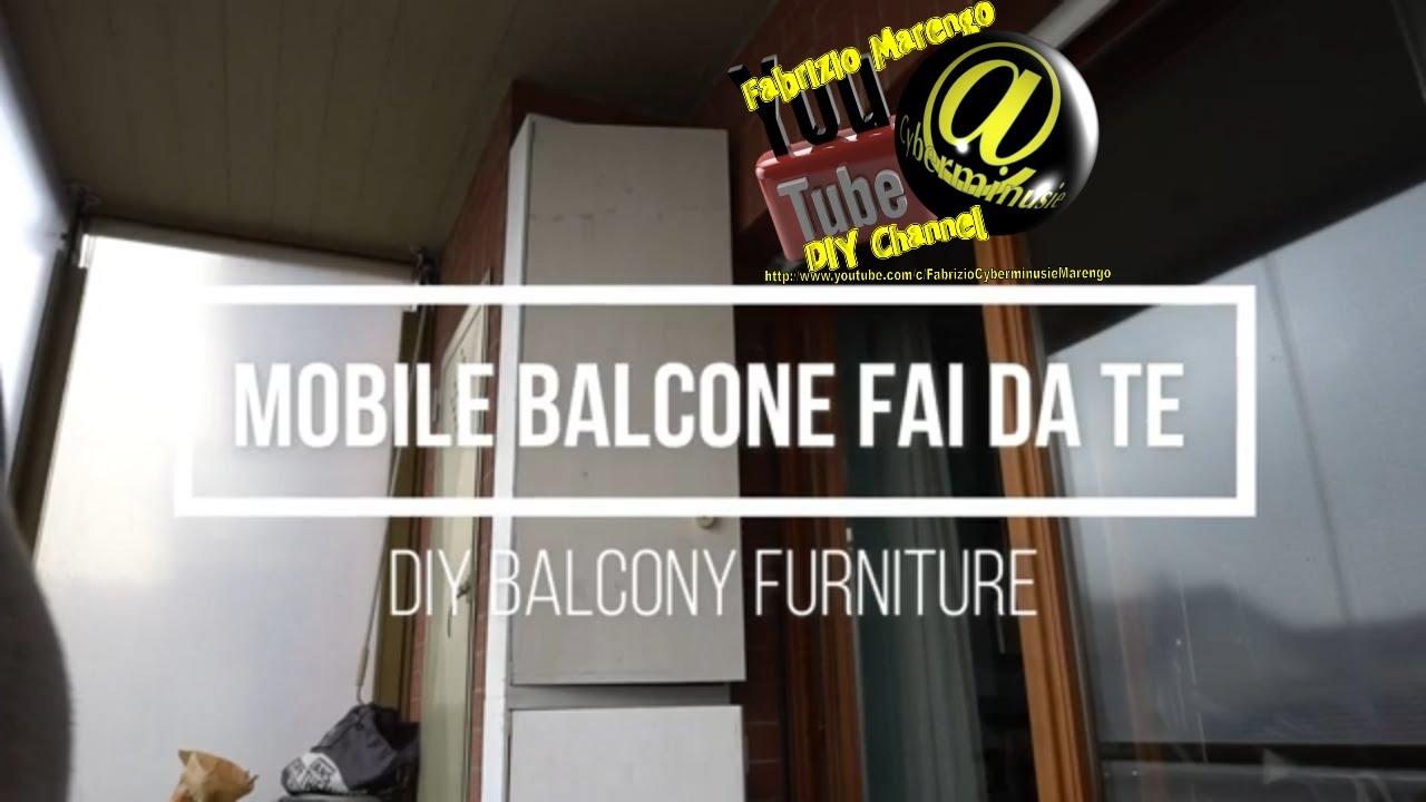 Interior Design Fai Da Te tutorial costruire mobile per balcone fai da te how to build diy balcony  storage cabinet furniture