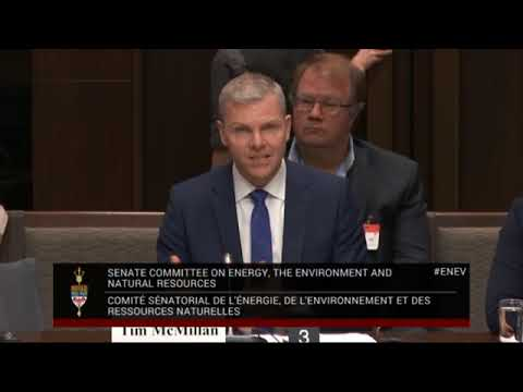 Tim McMillan Of CAPP Address Canada Senate On Bill C 69