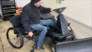 Paraplegic Plowing Snow