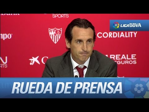 Rueda de prensa de Unai Emery tras el Sevilla FC (3-2) Real Madrid