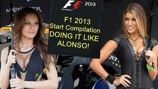 F1 2013 Race start only compilation clip - Formula One Fair Fighters