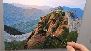 Painting The Great Wall  Time lapse