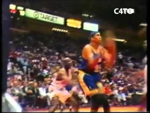 Chris Gatling dunk from Keith Jennings Golden State Warriors 1995