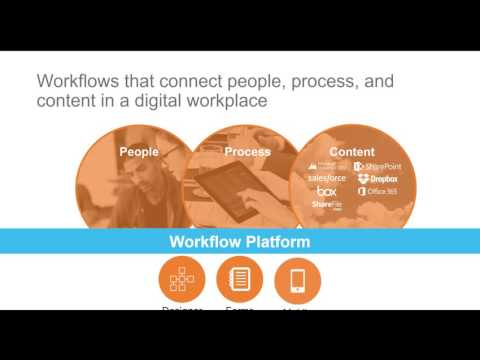 Watch a live demo of the Nintex workflow automation platform