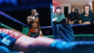 Reacting To My First Pro Fight W/ KSI & Randolph