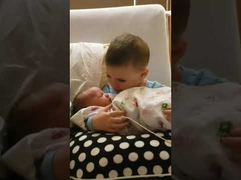 Joey Brooks - Little Boy Sings Lullaby To Newborn Baby Sister