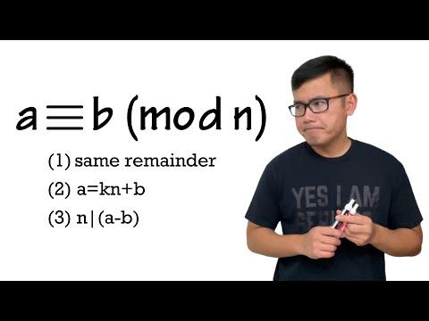 What does a ≡ b (mod n) mean? Basic Modular Arithmetic, Congruence