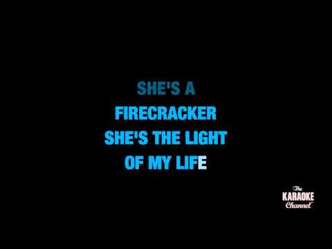 "Firecracker in the Style of ""Josh Turner"" karaoke video with lyrics (no lead vocal)"