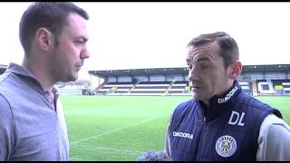 St Mirren - Danny Lennon and David Barron Pre-match v Celtic