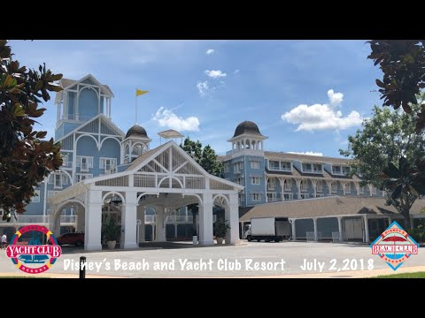 DISNEY'S BEACH AND YACHT CLUB RESORT | FULL TOUR JULY 2018 | POOL | DINING