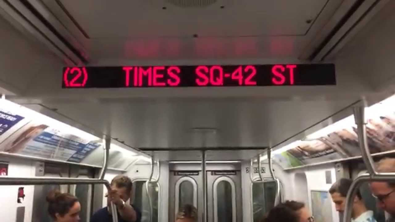 new nyc subway automated announcements r142 2 train youtube
