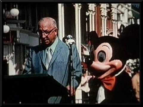 Roy E. Disney reads the Walt Disney World dedication plaque