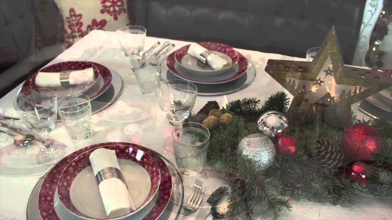 tischdekoration f r weihnachten stimmungsvoll in rot gold optik youtube. Black Bedroom Furniture Sets. Home Design Ideas