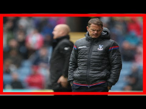 Crystal palace sack manager frank de boer in most hypocritical way possible