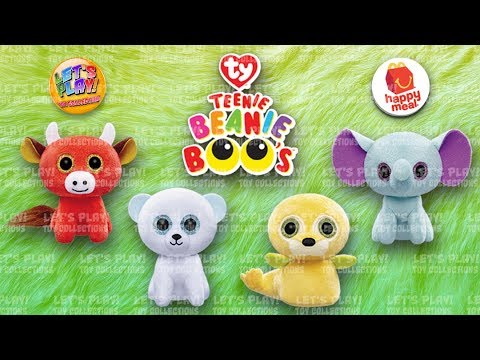 2018 Ty Teenie Beanie Boo s McDonald s Happy Meal Complete Set of 4 ... fb4c648665f