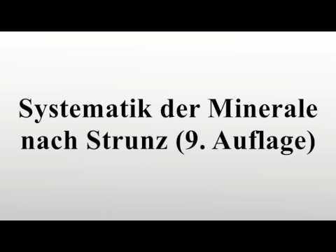 Systematik der Minerale nach Strunz (9. Auflage)