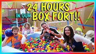 We do 24 hours in a box fort! See what fun things we do while in ou...