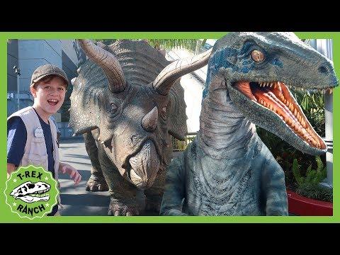 Dinosaurs & Jurassic World the Ride! Dinosaur Theme Park for Kids with Indominus Rex, T-Rex & Raptor