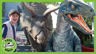Dinosaurs & Jurassic World the Ride! Dinosaur Theme Park for Kids with Indominus Rex, T-Rex & Raptor
