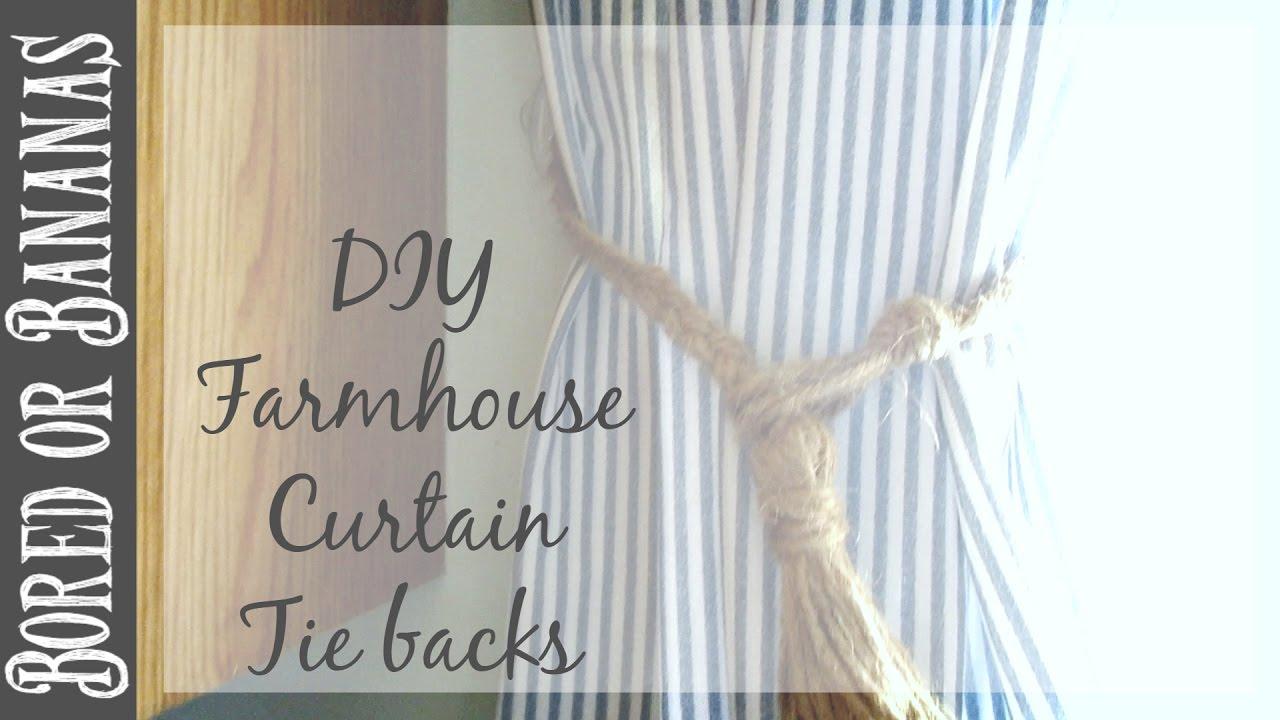 diy farmhouse decor tassel curtain tie backs