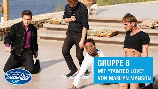 "Gruppe 08: Shada, Dominic, Kilian & Steve mit ""Tainted Love"" von Marilyn Manson 