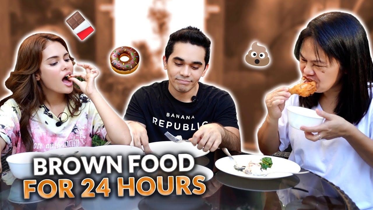 EATING BROWN FOOD FOR 24 HOURS CHALLENGE!   HASH ALAWI