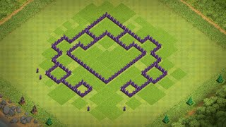 Clash of Clans Townhall 7 Home Base Layout (Trophy + Farming) 2016