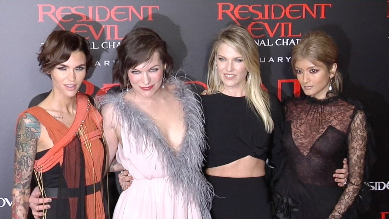 "Resident Evil The Final Chapter Premiere In: Milla Jovovich, Rola, Ruby Rose, Ali Larter ""Resident Evil"
