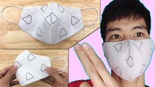 Mundschutz selber nähen ohne Nähmaschine | Maske selbst nähen | Diy face mask no sewing machine