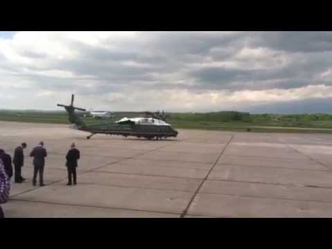 Air Force One Lands At Griffiss