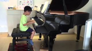 Isaac Ho 6 yo played Falling Leaves G1 by Knut Nystedt in Michelle Tang