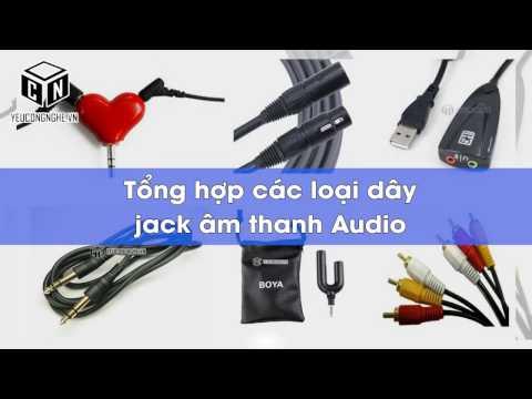Tổng hợp các loại dây, jack âm thanh Audio 3.5, 6.3mm