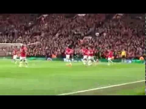 Van Persie's freekick 3-0 Man United vs Olympiakos 2014/3/19