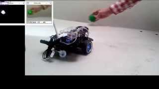 The RR.O.P. - Raspberry Pi Robot using OpenCV with color recognition