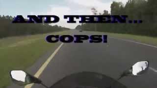2014 zx6r top speed & cops!!!
