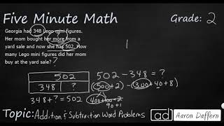 2nd Grade Math Addition and Subtraction Word Problems