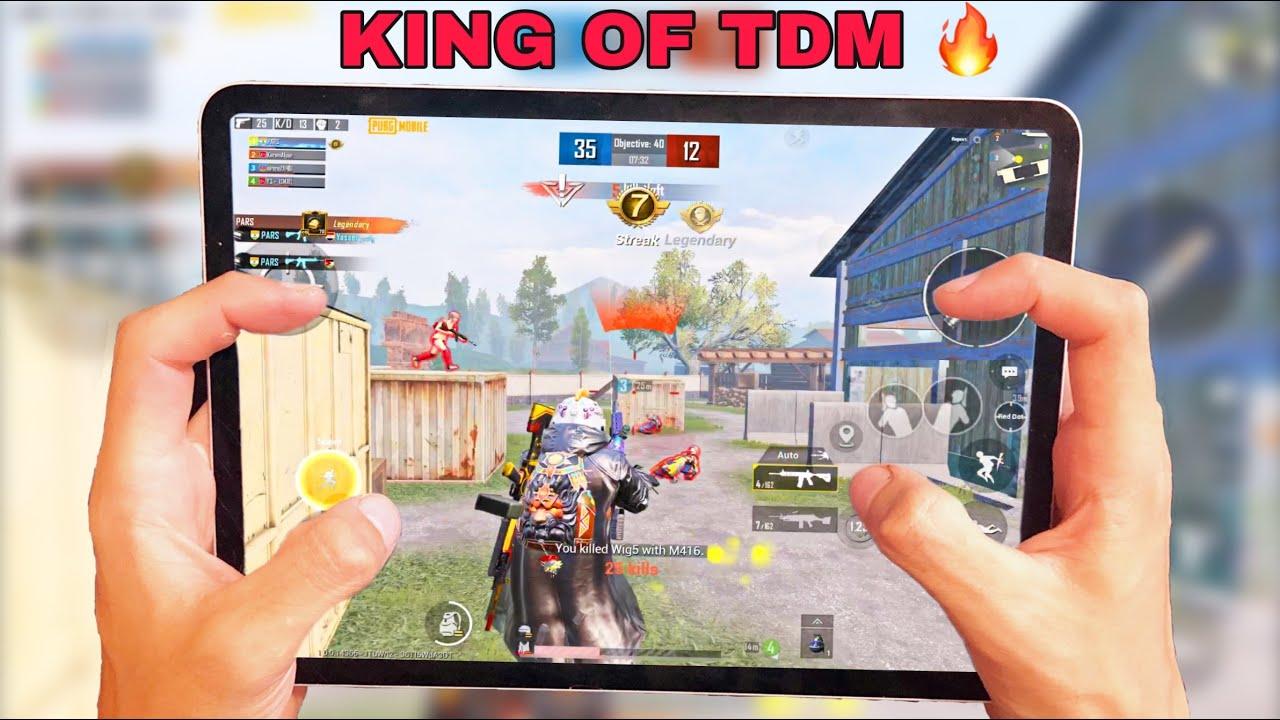 King of TDM 🔥IPAD PRO 2020 PUBG   HANDCAM 4 Finger + Full ...