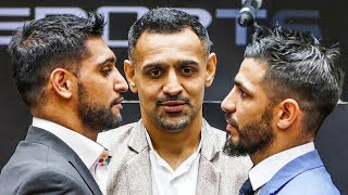 Amir Khan vs Billy Dib FIERCE FACEOFF | Jeddah duel