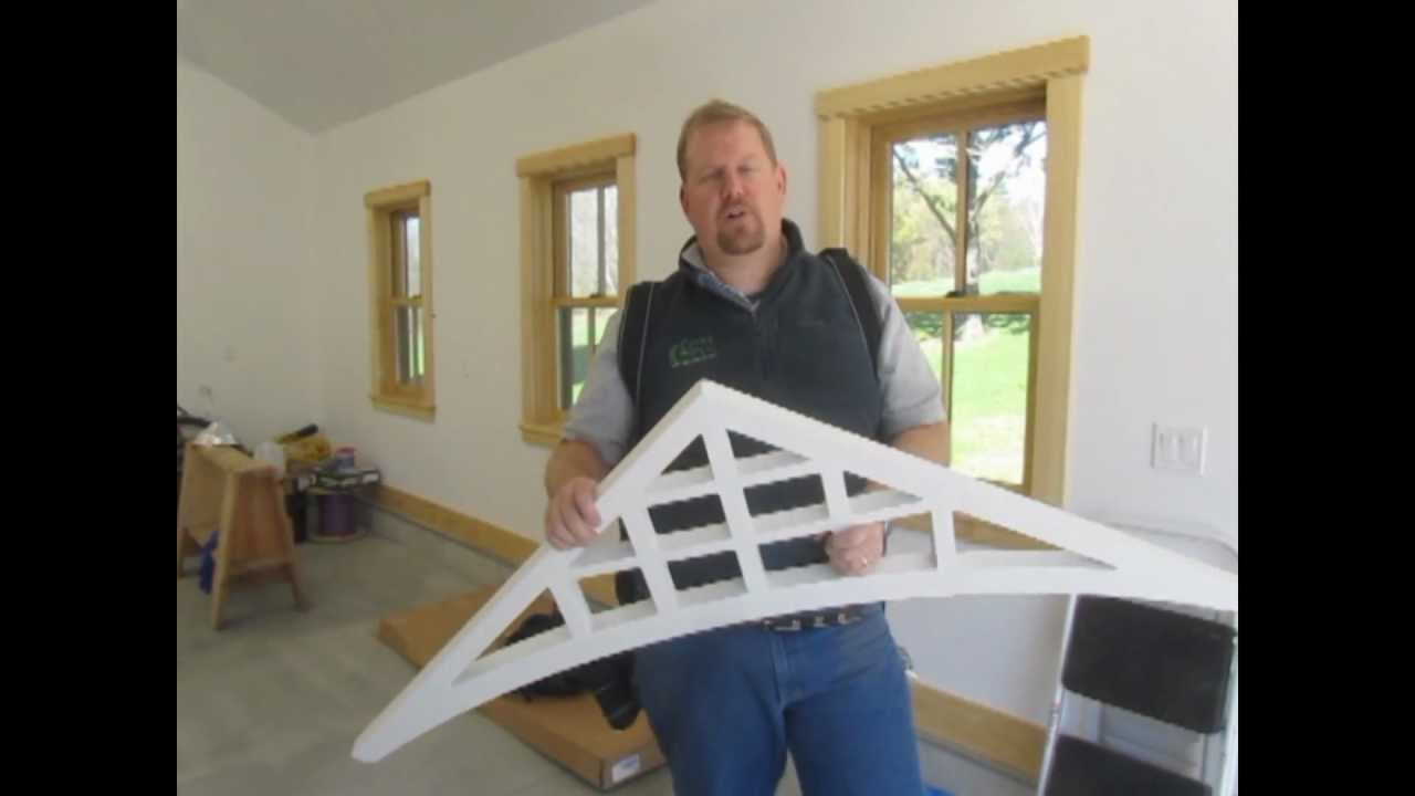 How to install fypon gable pediments youtube for Fypon window pediments