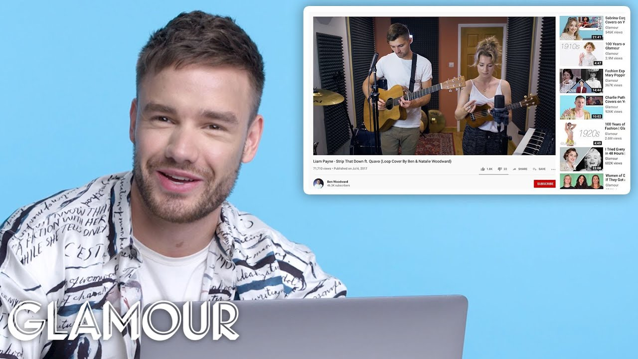 Liam Payne Watches Fan Covers on YouTube | Glamour