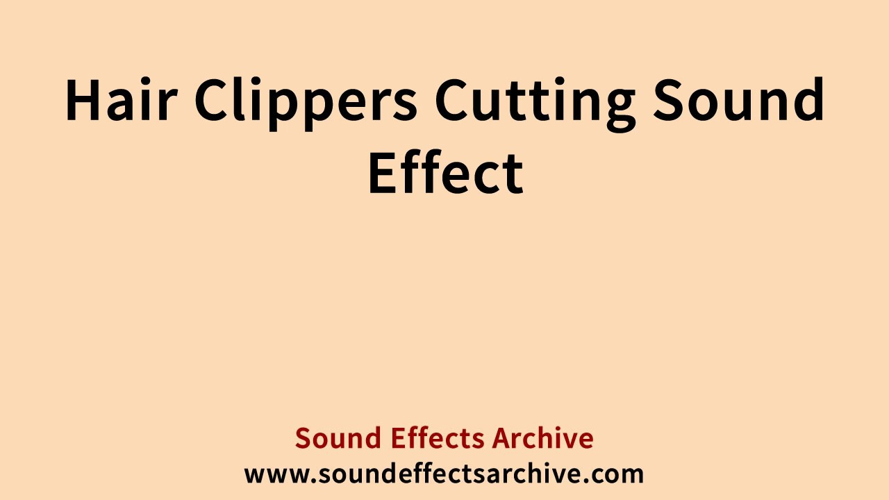 Hair Clippers Cutting Sound Effect - Royalty Free - YouTube