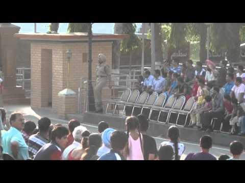 India/Pakistan border closing ceremony, near Amritsar